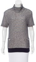 Band Of Outsiders Striped Short Sleeve Top