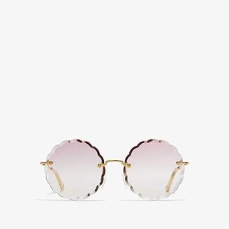 Chloé Rosie Scalloped - CE142SL (Gold/Gradient Rose) Fashion Sunglasses