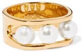 Chloé Darcey Gold-tone Swarovski Pearl Ring - 54