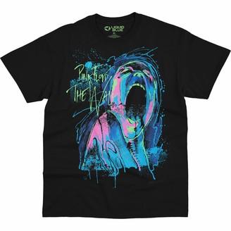 Liquid Blue Unisex Adult Pink Floyd The Wall Scream Blacklight Print T-Shirt T Shirt