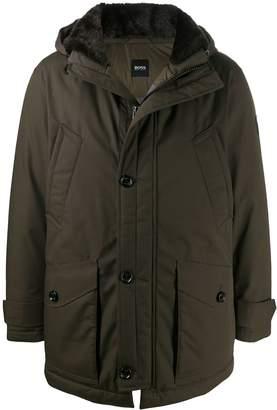 BOSS hooded padded coat