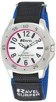 Ravel Men's Surfer 5ATM Velcro Quartz Watch with Silver Dial Analogue Display and Multicolour Nylon Strap R5-10.6G