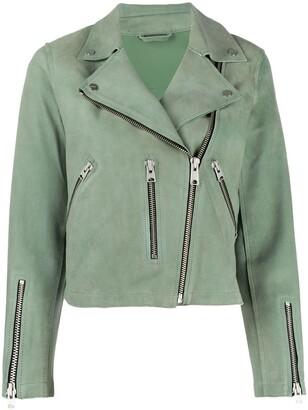 AllSaints Cropped Biker Jacket