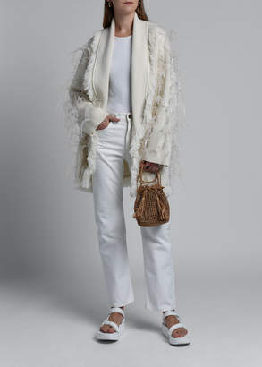 Alanui Feather-Embroidered Cardigan