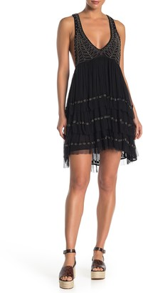 Free People Twilight Beaded Mini Dress