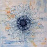 Parvez Taj Blue Burst Bloom Canvas Wall Art