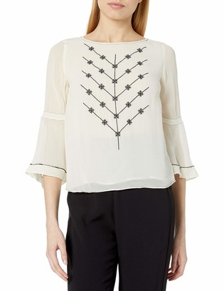 Plenty by Tracy Reese Women's Flounce Sleeve Tee