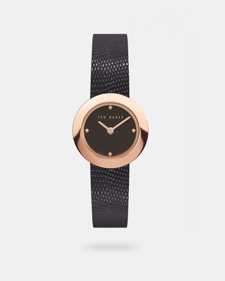 Ted Baker Lizard Print Leather Strap Watch