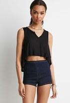 Forever 21 Flat Front Denim Shorts
