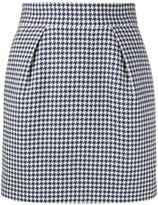 Alexandre Vauthier houndstooth patterned high-waisted skirt