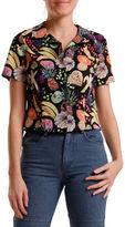 Rachel Antonoff Happy Short Sleeved Button Blouse