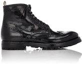 Officine Creative Men's Anatomia Wingtip Boots-BLACK