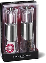 Cole & Mason Precision Grind Bobbi Salt and Pepper Mill Gift Set - Acrylic and Chrome/Clear, 18.5 cm