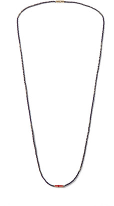 Luis Morais Bead, 14-karat Gold And Enamel Necklace - Blue