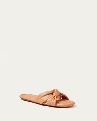 Loeffler Randall Polly Caramel Puffy Knot Sandal