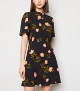 New Look Floral High Neck Tea Dress