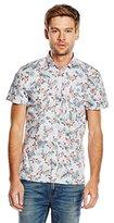 BOSS ORANGE Men's EzippoE_1 Regular Fit Short Sleeve Casual Shirt