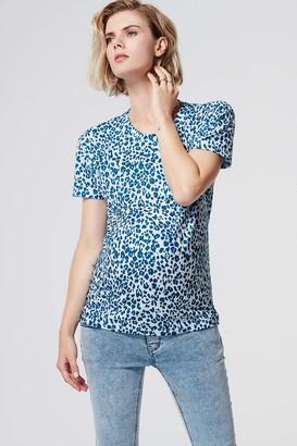 SUPERMOM Women's Tee Ss Leopard Maternity T-Shirt