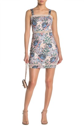 GUESS Ladder Cutout Paisley Floral Mini Dress