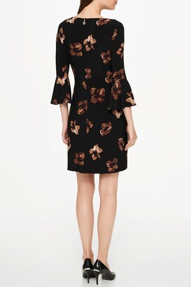 Tommy Hilfiger 3/4 Bell Sleeve Floral Print Dress