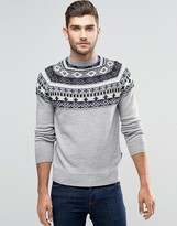 French Connection Fair Isle Christmas Jumper