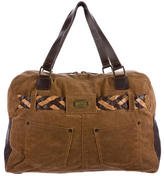 Dolce & Gabbana Leather-Accented Corduroy Shoulder Bag