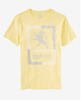 Express yellow striped lion graphic t-shirt