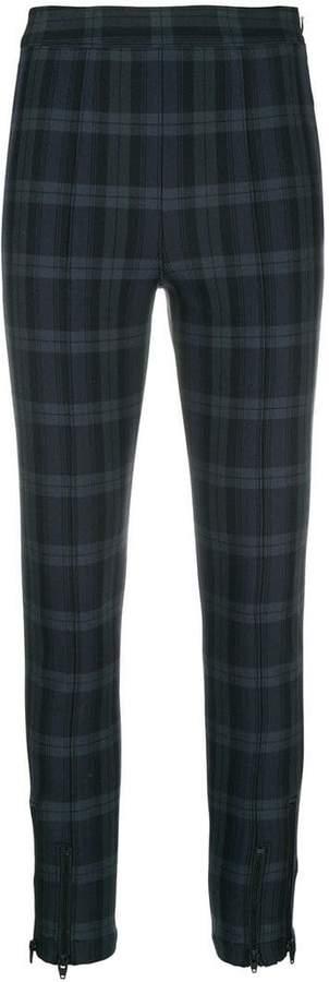 Alexander Wang tartan skinny-fit leggings