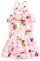 Kate Mack Toddler Girl's Cherry Ruffle Romper