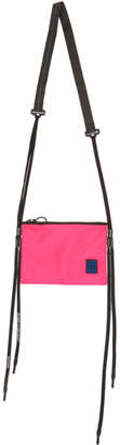 Off-White Off White Pink and Black Flat Crossbody Shoulder Bag