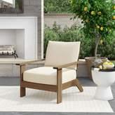 Ashland Teak Patio Chair with Cushions Summer Classics Cushion Color: Avila Midnight