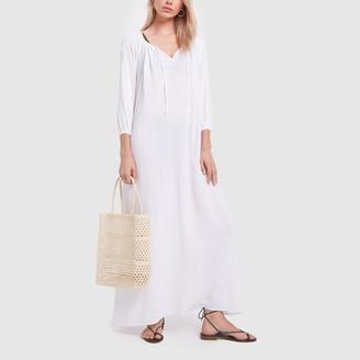Pour Les Femmes Long Gauze Kaftan Dress
