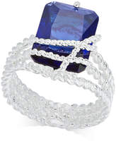Charter Club Silver-Tone Blue Stone Multi-Row Wrap Ring, Created for Macy's