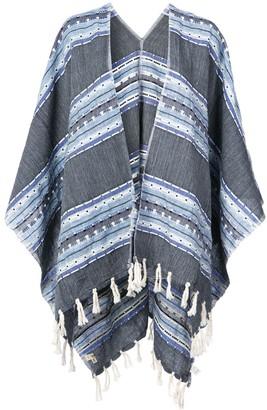 Lemlem Fringed Striped Kimono