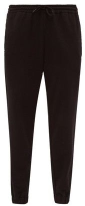 Wardrobe NYC Release 02 High-rise Cotton Track Pants - Black