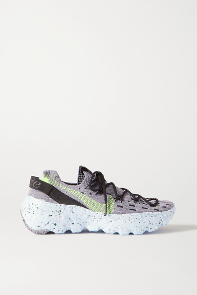 Nike Space Hippie Stretch-knit Sneakers - Gray
