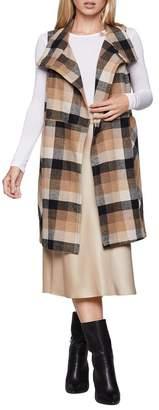 BCBGeneration Plaid Tweed Vest