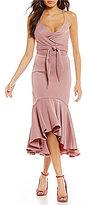 Gianni Bini Melinda Satin Wrap Dress