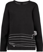 Mother of Pearl Edith embroidered cotton and modal-blend scuba sweatshirt