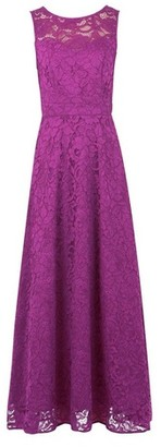 Dorothy Perkins Womens Jolie Moi Magenta Lace Maxi Dress, Magenta
