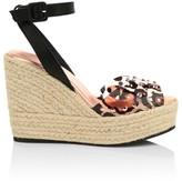Giuseppe Zanotti Checu Embellished Espadrille Wedge Sandals