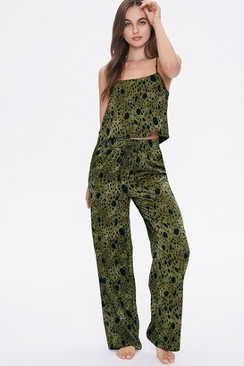 Forever 21 Spotted Print Cami Pants Sleep Set