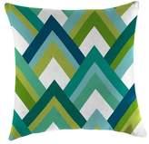 Jordan Outdoor Throw Pillow Set Manufacturing Multi-colored Green Blue White