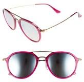 Ray-Ban Women's Youngster 53Mm Aviator Sunglasses - Fuchsia