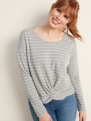 Old Navy Twist-Front French Terry Top for Women