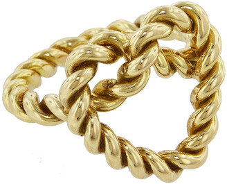 Nevernot Ready 2 Love Rope Yellow Gold Heart Ring