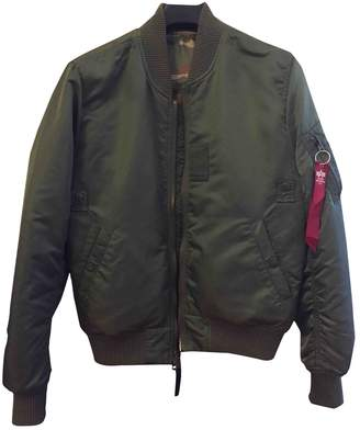 Alpha Industries Green Synthetic Jackets