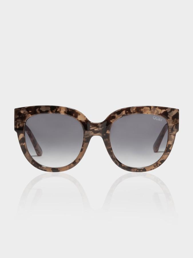 Quay Limelight Sunglasses in Milky Tortoise