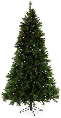 Christmas Time 6.5-Ft. Pennsylvania Pine Multi-Color LED String Lighting & Holiday Soundtrack Artificial Christmas Tree