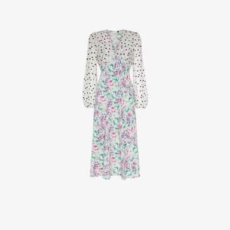 Rixo Melanie chiffon floral dress